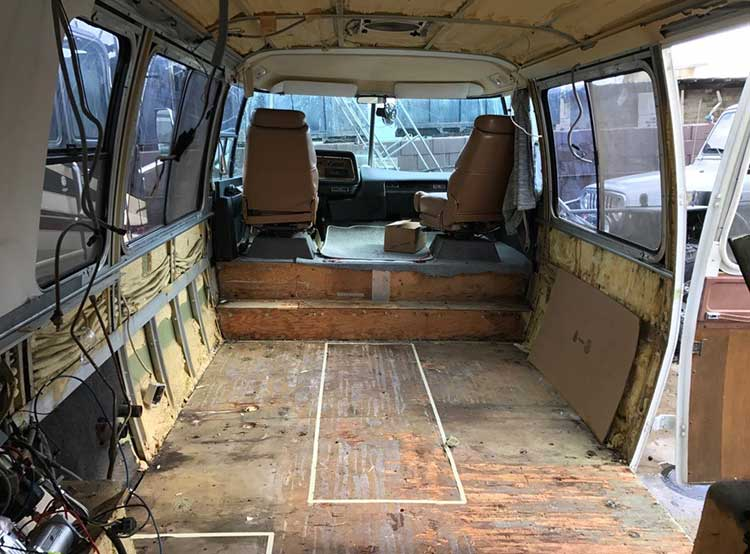 Pre Renovation pic of gutted RV